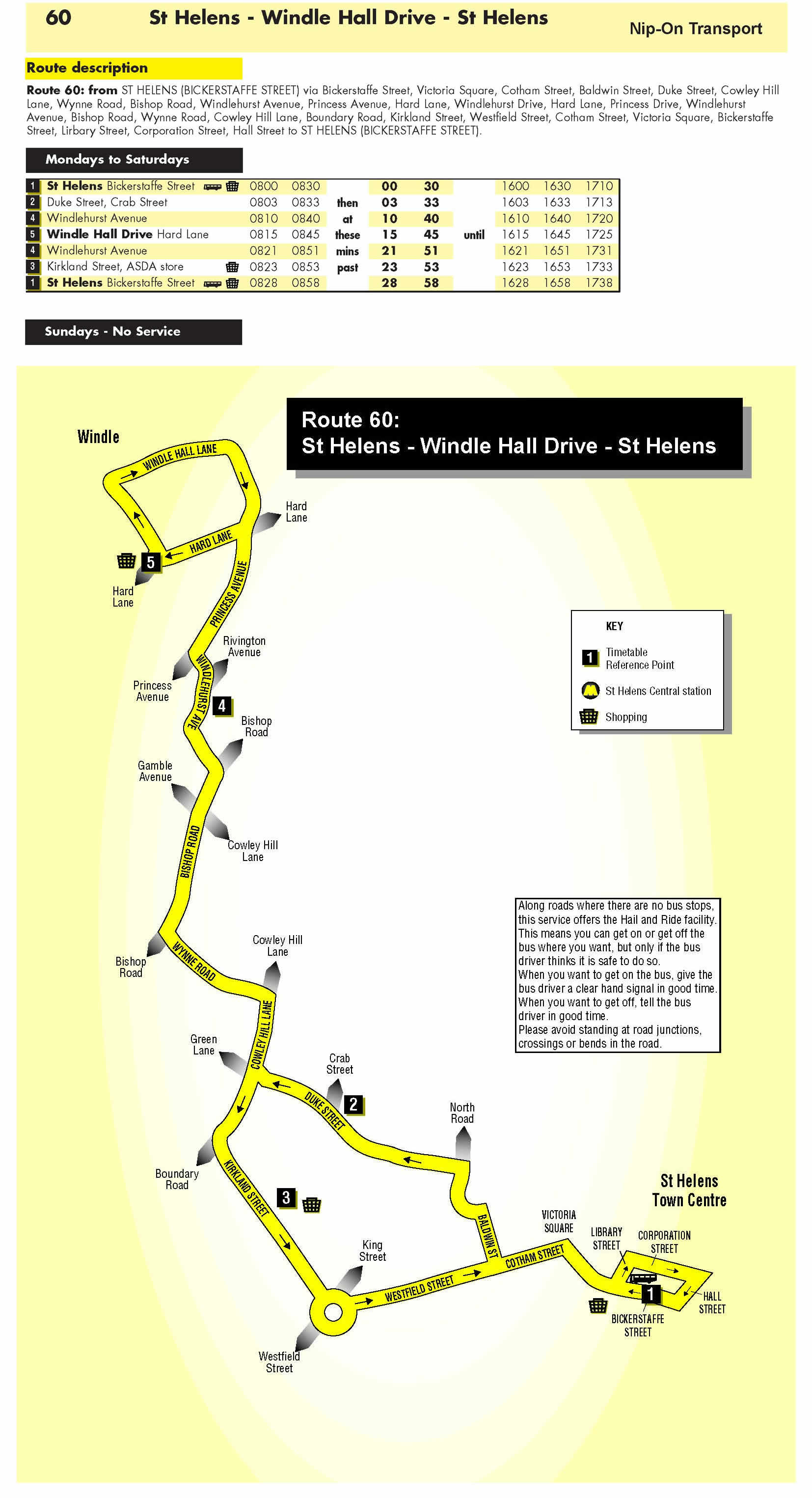 Route 60 St Helens - Windle Hall Drive - St Helens